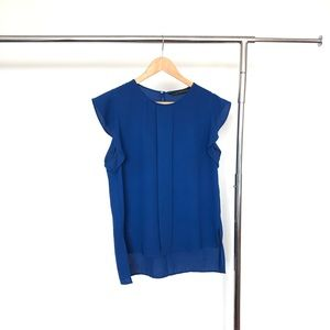 Zara royal blue blouse - L